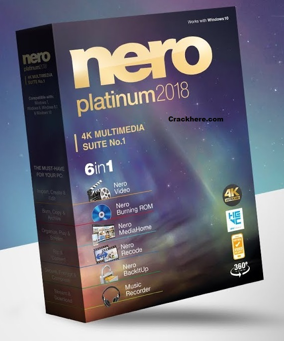 Nero Platinum 2018 Crack Seria key